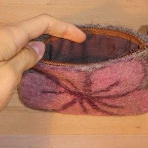 Accessories - Pretty Japanese Pink Felt Wallet